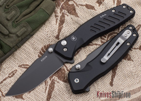 Spartan Blades: Pallas - Black PVD Finish - Black Anodized Frame