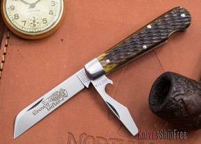 Great Eastern Cutlery: #15 - Tidioute - Crown Lifter - Antique Yellow Jigged Bone