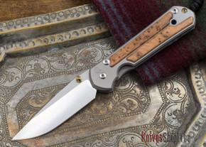 Chris Reeve Knives: Large Sebenza 21 - Thuya Burl Inlay - 110105