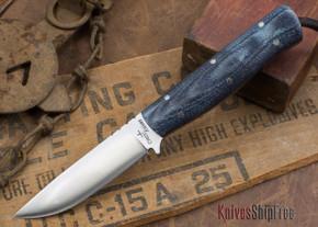 Cross Knives: Bushcraft LT Knife - Denim Micarta - Black Liners
