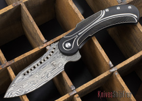 Todd Begg Knives: Steelcraft Series - Field Marshall - Black & Silver Titanium - Grosserosenª Damasteel¨ - A
