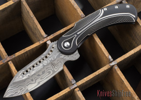 Todd Begg Knives: Steelcraft Series - Field Marshall - Black & Silver Titanium - Grosserosenª Damasteel¨ - C