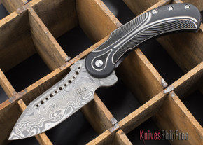 Todd Begg Knives: Steelcraft Series - Field Marshall - Black & Silver Titanium - Grosserosenª Damasteel¨ - D