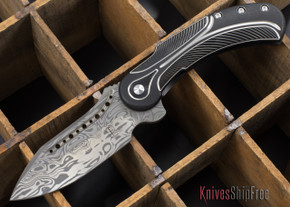 Todd Begg Knives: Steelcraft Series - Field Marshall - Black & Silver Titanium - Grosserosenª Damasteel¨ - H