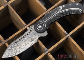 Todd Begg Knives: Steelcraft Series - Field Marshall - Black & Silver Titanium - Grosserosenª Damasteel¨ - I