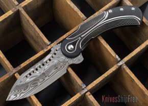 Todd Begg Knives: Steelcraft Series - Field Marshall - Black & Silver Titanium - Draupner Damasteel - A