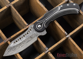 Todd Begg Knives: Steelcraft Series - Field Marshall - Black & Silver Titanium - Draupner Damasteel - B