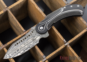 Todd Begg Knives: Steelcraft Series - Field Marshall - Black & Silver Titanium - Draupner Damasteel - D