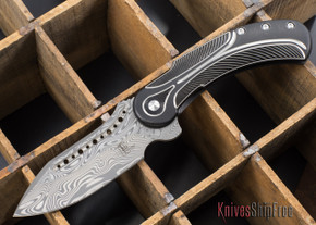 Todd Begg Knives: Steelcraft Series - Field Marshall - Black & Silver Titanium - Draupner Damasteel - E