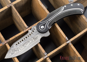 Todd Begg Knives: Steelcraft Series - Field Marshall - Black & Silver Titanium - Draupner Damasteel - H
