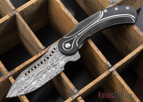 Todd Begg Knives: Steelcraft Series - Field Marshall - Black & Silver Titanium - Draupner Damasteel - N