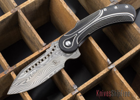 Todd Begg Knives: Steelcraft Series - Field Marshall - Black & Silver Titanium - Thor Damasteel - A