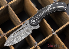 Todd Begg Knives: Steelcraft Series - Field Marshall - Black & Silver Titanium - Thor Damasteel - C