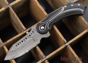 Todd Begg Knives: Steelcraft Series - Field Marshall - Black & Silver Titanium - Thor Damasteel - F