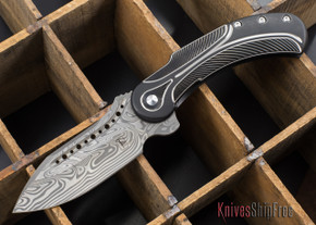 Todd Begg Knives: Steelcraft Series - Field Marshall - Black & Silver Titanium - Thor Damasteel - G