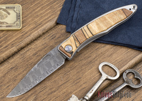 Chris Reeve Knives: Mnandi - Spalted Beach - Basketweave Damascus - 111807