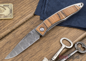 Chris Reeve Knives: Mnandi - Spalted Beach - Basketweave Damascus - 111808