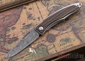 Chris Reeve Knives: Mnandi - Macassar Ebony - Raindrop Damascus - 112501