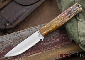 Cross Knives: Bushcraft LT Knife - Dyed Camel Bone - Black Liners