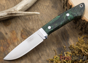 Fallkniven: Custom F1 - Green & Black Maple Burl