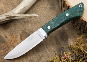 Fallkniven: Custom F1 - Green & Gold Elder Burl #1