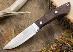 Fallkniven: Custom F1 - Red & Black Russian Olivewood Burl