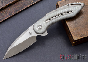 Todd Begg Knives: Custom Glimpse 6.0 - Silver Twill Inlay - Long Swedge Grind - 120901