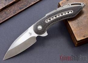Todd Begg Knives: Custom Glimpse 6.0 - Lightning Strike Inlay - Swedge Grind - 120905