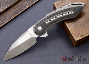 Todd Begg Knives: Custom Glimpse 6.0 - Lightning Strike Inlay - Swedge Grind - 120906