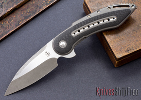 Todd Begg Knives: Custom Glimpse 6.0 - Carbon Fiber Inlay - Swedge Blade - 120912