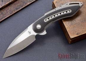Todd Begg Knives: Custom Glimpse 6.0 - Carbon Fiber Inlay - Swedge Blade - 120914