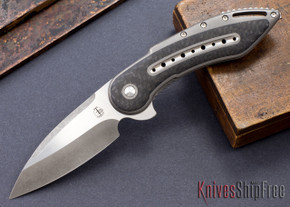 Todd Begg Knives: Custom Glimpse 6.0 - Carbon Fiber Inlay - Swedge Blade - 120915