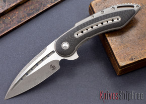 Todd Begg Knives: Custom Glimpse 6.0 - Carbon Fiber Inlay - Fluted Blade - 120918