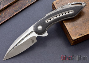 Todd Begg Knives: Custom Glimpse 6.0 - Carbon Fiber Inlay - Fluted Blade - 120919