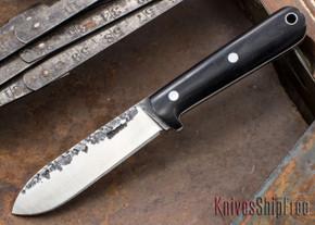 Lon Humphrey Knives: Kephart 3V - Black Micarta - White Liners - 121211