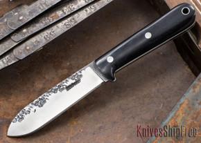 Lon Humphrey Knives: Kephart 3V - Black Micarta - White Liners - 121212