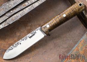 Lon Humphrey Knives: Kephart 3V - Dark Curly Maple - 121256