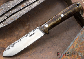Lon Humphrey Knives: Kephart 3V - Dark Curly Maple - 121260
