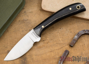 Hess Knifeworks: Caper - Black Canvas Micarta