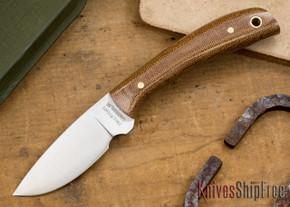 Hess Knifeworks: Caper - Brown Canvas Micarta