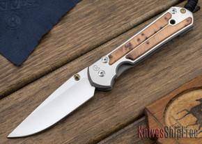 Chris Reeve Knives: Large Sebenza 21 - Thuya Burl - 010410