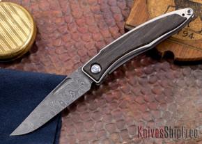 Chris Reeve Knives: Mnandi - Bog Oak - Raindrop Damascus - 010509