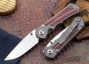 Chris Reeve Knives: Small Inkosi - Red Linen Micarta Inlay