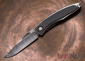 Chris Reeve Knives: Mnandi - Bog Oak - Basketweave Damascus - 010602