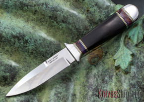 Alan Warren Knives: Custom Boot Dagger - Blackwood - Acrylic Spacers