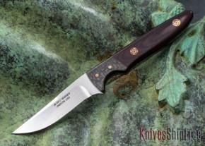 Alan Warren Knives: Custom Bird & Trout - Burgundy Micarta - Red Liners