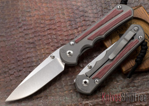 Chris Reeve Knives: Large Inkosi - Red Linen Micarta Inlay