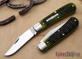Great Eastern Cutlery: #74 Tidioute - Stallion - Spring Green Jigged Bone