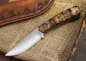 Cross Knives: Lil' Whitetail - Spalted Hackberry - Black Liners