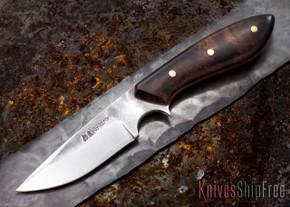 Carter Cutlery: Muteki Series - Compact Original Neck Knife - Ironwood - Red Liners - 012710